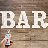 LED BAR Marquee Letter Lights Light Up BAR Signs Remote Control Letter Lamp for Wedding Birthday Party Battery Powered Christmas Lamp Home Bar Decoration(BAR-Remote control)