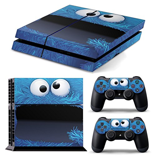 Funky Planet PS4 Pro PlayStation4 Pro Designfolie Sticker Skin Set für Konsole + 2 Controller by (PS4 Pro Cookie Monster)