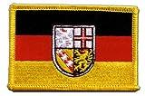 Aufnäher Patch Flagge Deutschland Saarland - 8 x 6 cm