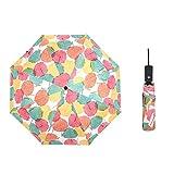 JUNDY Paraguas Compacto y Resistente al Viento, Paraguas Plegable, Conveniente para Viajes...