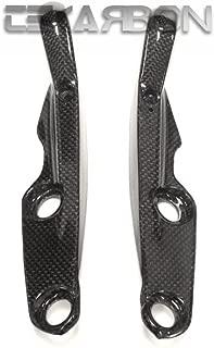 Tekarbon, Carbon Fiber Footpeg Frame Covers, for Ducati Monster 1200 821 (2014-2017), 1x1 Plain Weave