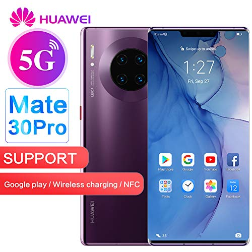 Huawei Mate 30 Pro 5G LTE Google Play Support 6.53' 256GB 8GB Unlocked - Chinese Version, No Warranty (Cosmic Purple)
