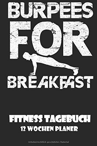 FITNESS Tagebuch - 12 Wochen Planer: DIN A5 Sport Bodybuilding & Gewichtheben Journal | Fitness Logbuch Krafttraining | Workout Planer | ... & Motivation für Sport und Training