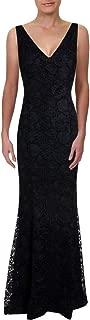 LAUREN RALPH LAUREN Womens Lace Sleeveless Evening Dress