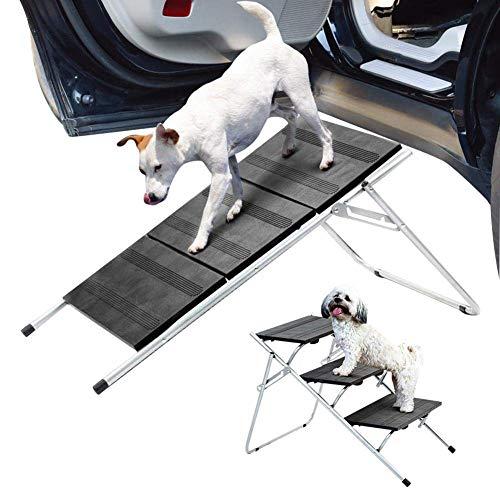 Piaoliangxue 3 étapes Escalier pour Animaux de Compagnie - Échelle d'escalier Pliable pour Chien - Lits Hauts portatifs antidérapants pour Chiens - pour Lits Mezzanine, camions, Voitures et SUV