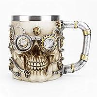[Conception créative]: Il possède une conception de crâne 3D, vous pouvez utiliser votre tasse de crâne préférée pour profiter de vos boissons chaudes ou froides préférées. [Gardez chaud et froid pendant une longue période]: Nos tasses peuvent garder...