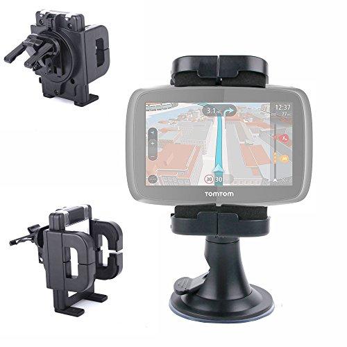 DURAGADGET-Soporte giratorio para coche salpicadero, rendija de aire y parabrisas, para GPS TomTom GO 600, GO 60, GO 5000, GO, 40, 50 y GB