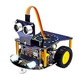KEYESTUDIO Mini Kit de Coche Robótico para BBC Micro:bit Robótico Stem Kit Juguete Educativo para Niños y Adultos (Excepto Micro:bit)