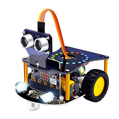 KEYESTUDIO BBC Micro:bit Robot Building Set Compatible con Microbit V1, V2 (excluyendo la Placa Microbit) para Niños y Adultos