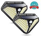 Solarlampen für Außen mit Bewegungsmelder, Cocoda Kompakte Solarleuchten für Außen mit 102 LEDs,...