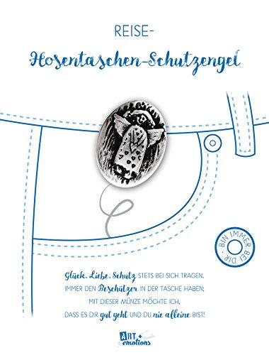 ART + emotions Reise- Hosentaschen-Schutzengel - 925 versilbert - Glücksbringer Talisman Trostspender Mutmacher