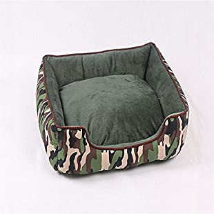 weiwei Four Seasons Camouflage Kennel can be washed and soiled pet dog nest pet Nest belt warm cushion kennel cat nest