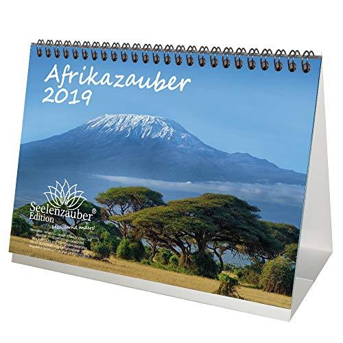Afrikazauber · DIN A5 · Premium Tischkalender/Kalender 2019 · Afrika · Wüste · Kontinent · Landschaft · Tiere · Wildnis · Natur · Edition Seelenzauber