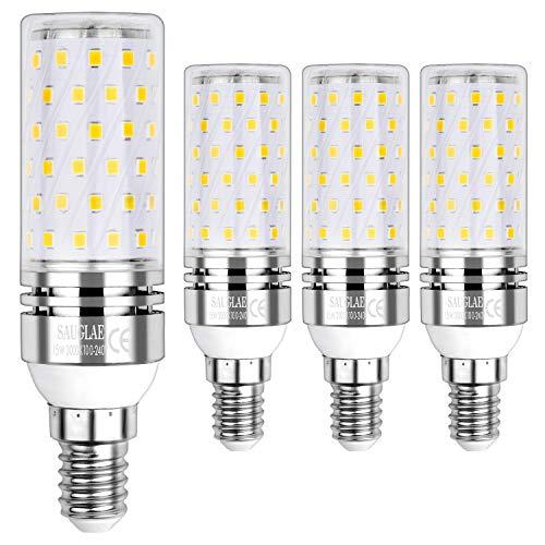 Sauglae E14 Led Mais Leuchtmittel 15W, Entspricht 120W Glühbirnen, 3000K Warmweiß, 1500lm, Kleine Edison Schraube Led Birne, 4-Pack