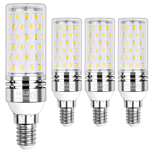 Sauglae E14 Lampadina di Mais LED 15W, Bianca Calda 3000K, Equivalente a Lampadine a Incandescenza 120W, 1500 Lumen, Lampadine a LED a Piccola Vite Edison, 4-Pack