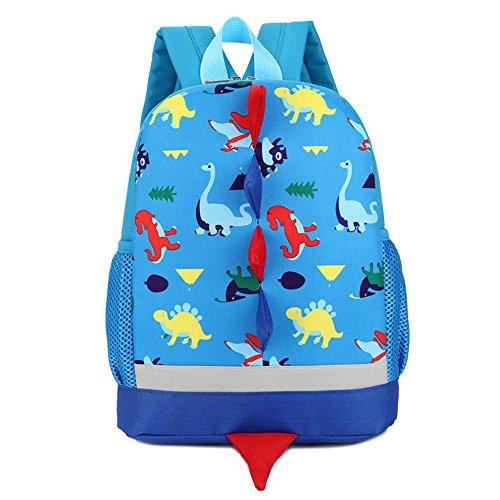 DafenQ 3D Dinosaurio Mochila Infantil Niño Mochilas Escolares Juveniles Dinosaurio Patrón Animales Guardería Mochila viaje bolsos Primaria Bolsa de la escuela (Azul)