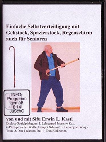Einfache Selbstverteidigung mit Gehstock, Spazierstock, Regenschirm auch für Senioren