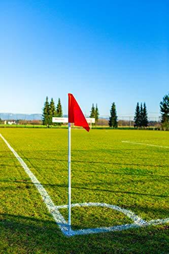 POWERSHOT Faltbare Fußball Eckfahnen 4er Set