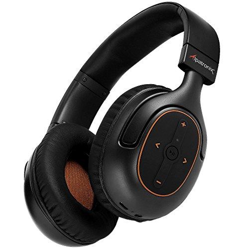Bluetooth Headphones - Alpatronix HX101 Universal HD Noise Isolating Bluetooth Headset &Wireless Headphones w/Built-in Mic, Volume/Playback Controls/AptX/CVC 6.0/BT 4.1 [30+ Hrs Playback Time]- Black