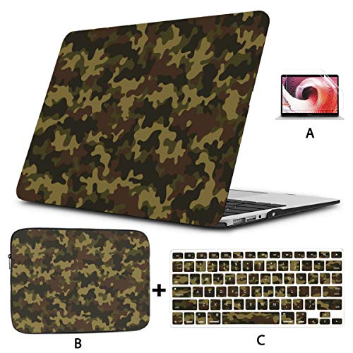 Macbook Pro 13 Cases Classic Clothing Masking Camo Macbook Cases Hard Shell Mac Air 11'/13' Pro 13'/15'/16' With Notebook Sleeve Bag For Macbook 2008-2020 Version
