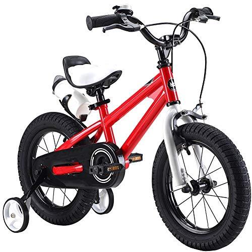 """YEDENGPAO Niños De La Bici, Estilo Libre del Muchacho De La Muchacha De Los Niños Niños De La Bici Bicicletas 6 Colores, 12\"""", 14\"""", 16\"""", 18\"""" con Estabilizadores,Rojo,16\"""""""