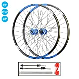 TianyiTrade 26 inch 27.5 inch 29 inch Mountain Bike Wheel Set QR Double Wall Rim Sealed Bearing Disc Brake Hub, for 1.7-2.4' Tyres 8-12 Speed Cassette (Size : 26')