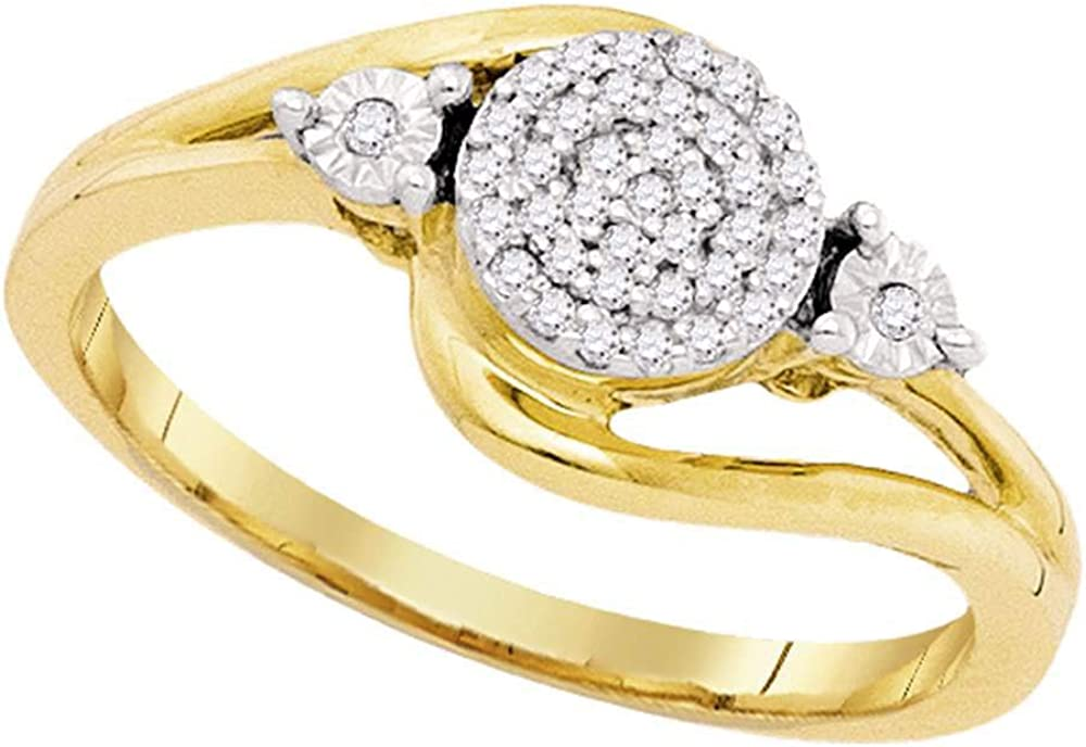 Diamond Solid 10k Yellow Gold Omaha Superlatite Mall Ladies Band 10 Concentric 1 Ring C