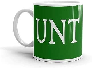 UNT Mug - Green Mug 11 Oz White Ceramic