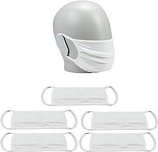 Mobilis Lot de 6 Masques UNS Cat.1 Grand Public Filtration Supérieure à 90% - 50 Lavages - OEKO-TEX Standard 100 - Blanc