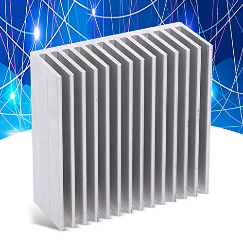 Disipador de calor de aluminio, 4 piezas Conveniente refrigeración Lámina de aluminio Portátil Buen rendimiento Resistente para componentes electrónicos para tubos electrónicos