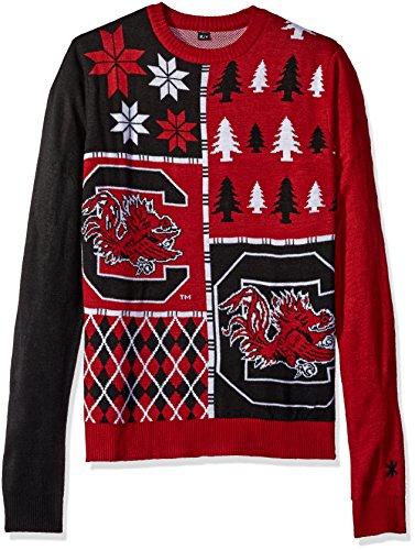 Klew NCAA Busy Block Sweater, Medium, South Carolina