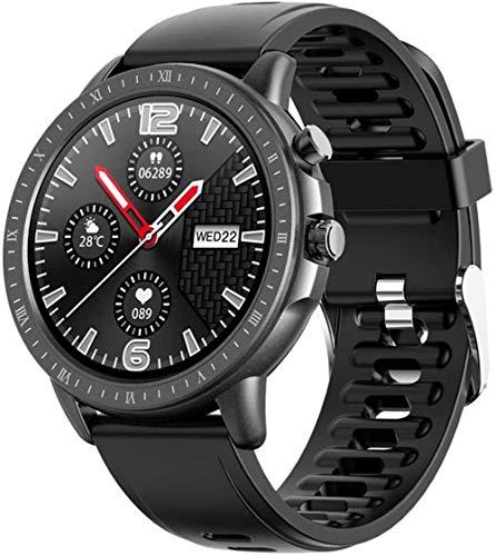 Reloj inteligente de 1,3 pulgadas con pantalla redonda completa IP67 resistente al agua con monitor de frecuencia cardíaca, rastreador de fitness, reloj deportivo para hombres y mujeres-A