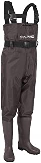 SYLPHID Bootfoot Chest Waders 2-Ply Nylon PVC Waterproof Fishing Hunting Waders for Men and Women