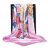 Pañuelo de seda bufandas de las mujeres de 90 * 90 cm Cabeza cuadrada bufanda de las señoras del abrigo del mantón silenciador pareo pañuelo de gasa femenina hijab poncho de lana