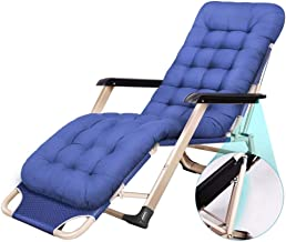High-quality recliner Sun Lounger Zero Gravity Patio Lounger Chair Oversize Folding Sun Loungers Recliners Garden Outdoors Recliner Beach Armchair (Color : Blue)