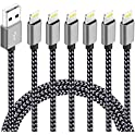 6-Pack (3ft,3ft,6ft,6ft,10ft,10ft) Nylon Braided Charging Cord Charger