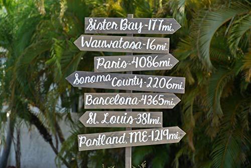 Em2342oe Panneau de Destination directionnelle en Forme de flèche en Bois pour décoration de Jardin