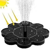 Solar Springbrunnen, otutun Solar Teichpumpe mit 1.5W Solar Panel Solarbrunnen, Solar Schwimmender Fontäne Pumpe mit 4 Fontänenstile für Miniteich, Garten, Vogelbad, Fisch Behälter