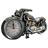 SHUAIGE Motorrad Wecker Home Desk Dekoration Uhr Geburtstag Geschenk, Gray