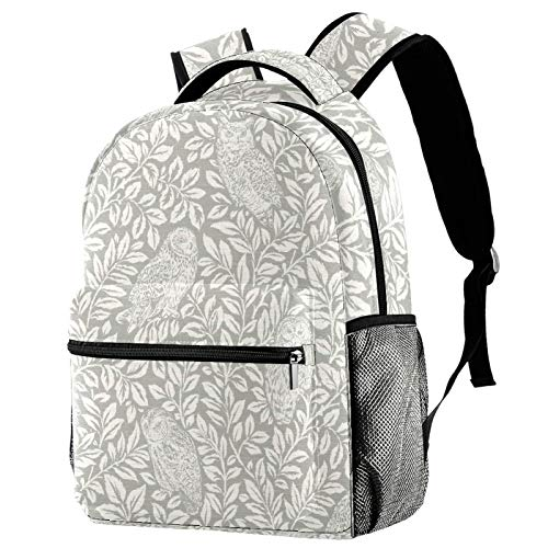 12' Travel Backpack, Durable College School Backpack Women Girl Casual Daypack(11.5x8x16 in),Owl