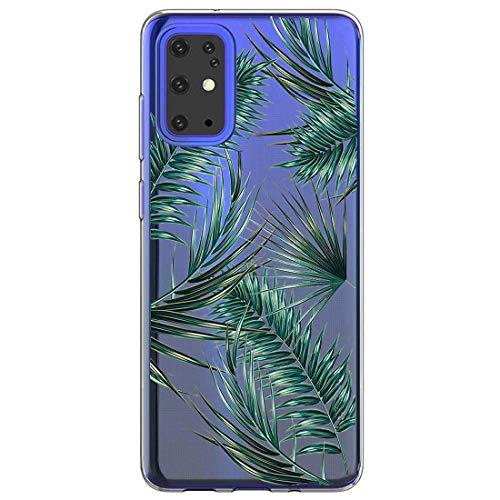 Handyhülle für Samsung Galaxy S20 Plus,Durchsichtig Transparent Crystal Clear TPU Silikon Hülle Ultra Dünn Case Cover Kratzfest Schutzhülle für Samsung Galaxy S20 Plus Marmor Blumen