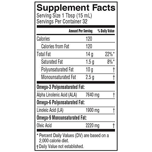 Product Image 3: Barlean's Fresh Flax Oil with 7,640mg ALA Omega-3 Fatty Acids for Improving Heart Health – USDA Organic, Non-GMO, Gluten Free – 16-Ounce