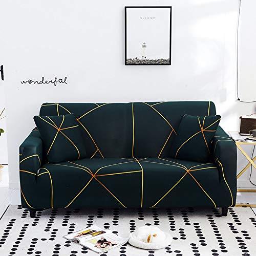 ASCV Fundas de sofá Floral para Sala de Estar Funda elástica para sofá Fundas para sofá Fundas para sofá Toalla para sofá Fundas para sofás con Chaise Longue A6 2 plazas