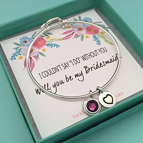 Recommended Bridesmaid bangle bridesmaid invitation bo Outlet ☆ Free Shipping bracelet