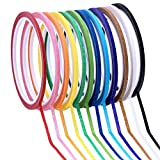 Supla 12 Colors 12 Rolls Whiteboard Gridding Tape Grid Marking Tapes 1/8'Wide x 42' Long per roll, Colored Masking Tape Adhesive Chart Tapes Artist Tape