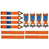 OPENROAD Lot de 4 sangles de roue de récupération à cliquet avec crochets 5000 kg 012
