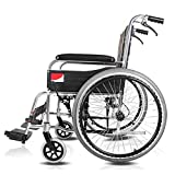 HYY-YY Silla médica de rehabilitación, sillas de Ruedas, Ligero de aleación de Aluminio Silla de Ruedas Plegable Manual, Ancianos discapacitados médica de conducción