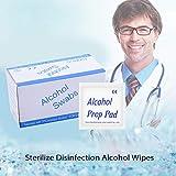 Absir 100 Hojas / Caja Almohadillas de algodón Desechables Desinfección médica Esterilizar toallitas de Limpieza 6 * 3 cm Uso de Maquillaje en el hogar