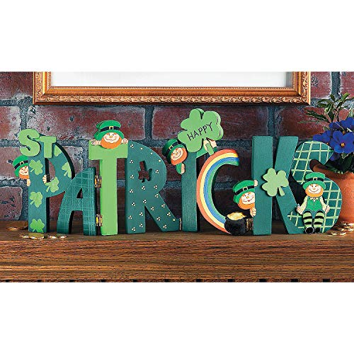 Happy St. Patrick's Wooden Screen Sign (hinged and Hand Painted) Home Decor