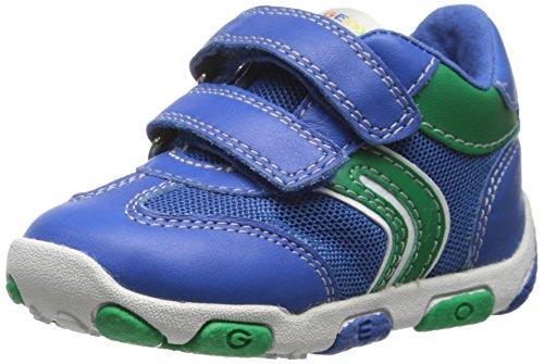 Geox Baby Jungen B Balu B F Babyschuhe-Lauflernschuhe, Blau - Bleu (Royal/Green) 21 EU